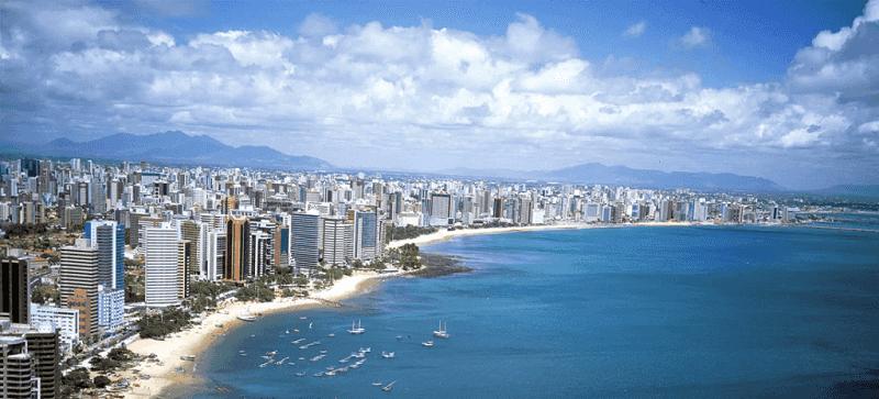 Vista aérea de Fortaleza