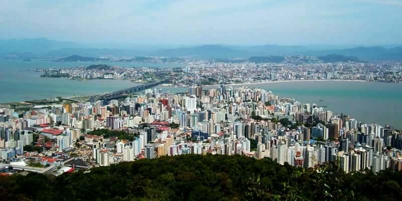 Vista do Mirante da cidade de Florianópolis