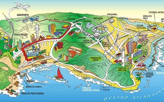 Mapa turístico de Natal
