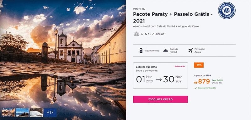 Pacote Hurb para Paraty por R$ 879