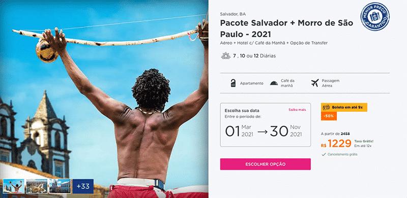 Pacote Hurb para Salvador + Morro de São Paulo por R$ 1.229