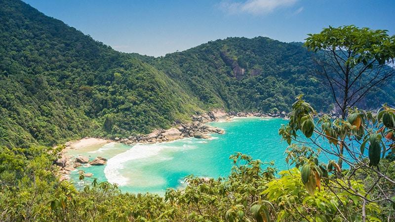 Vista da Praia de Paraty