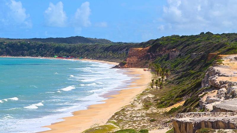 Vista de praia do Litoral Sul