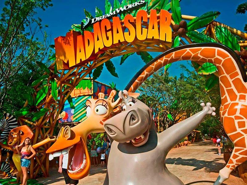 Áredo do filme Madagascar no Beto Carrero World