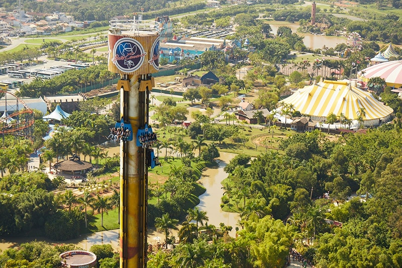 Vista aérea do Beto Carrero World