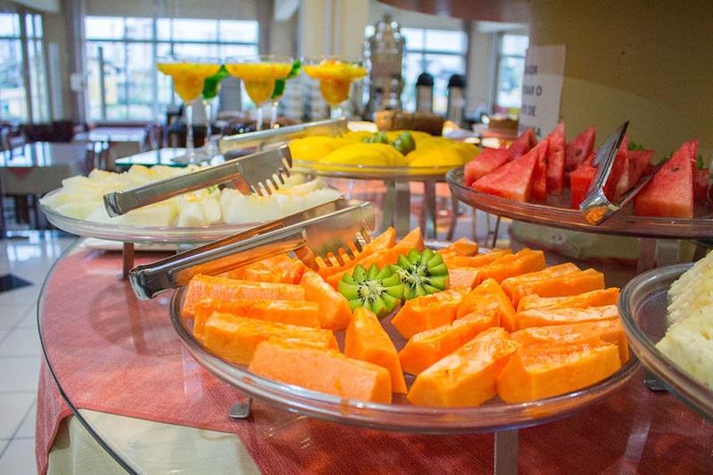 Café da manhã do Hotel Estação 101 em Itajaí