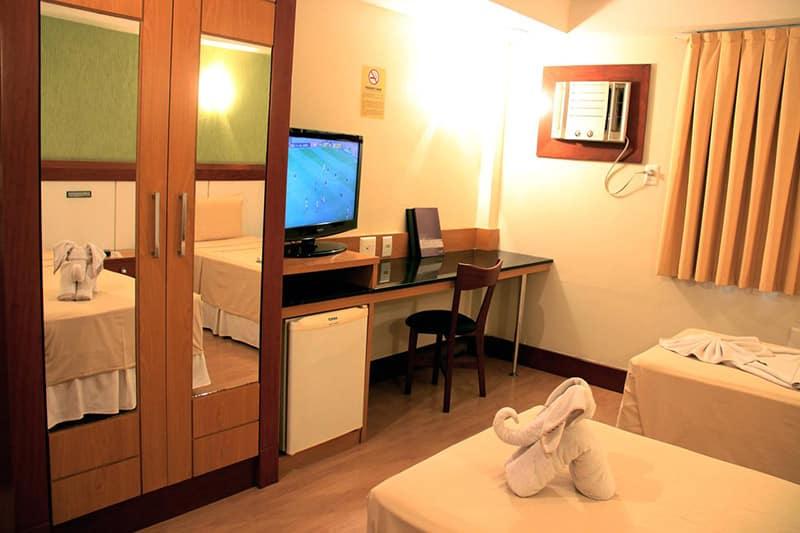 Suíte do Hotel Minuano em Vitória