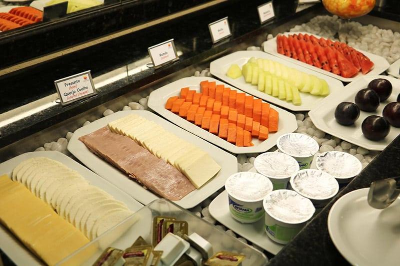 Café da manhã do Hotel Nacional Inn Recife Aeroporto