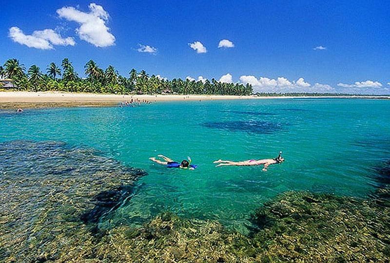 Mergulho na Península de Maraú
