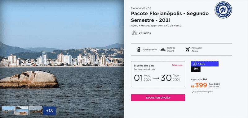 Pacote Hurb para Florianópolis por R$ 399