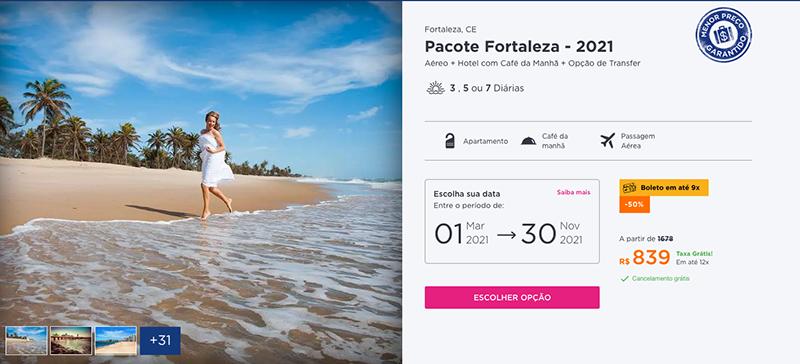 Pacote Hurb para Fortaleza