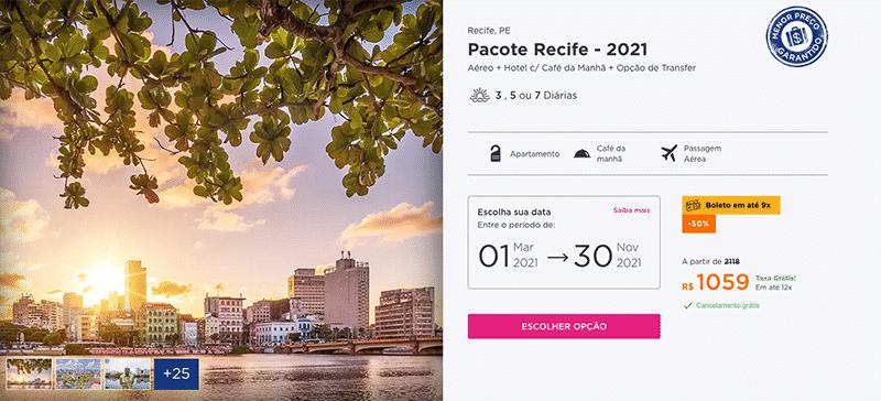 Pacote Hurb para Recife