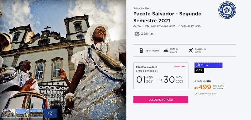 Pacote Hurb para Salvador por R$ 499