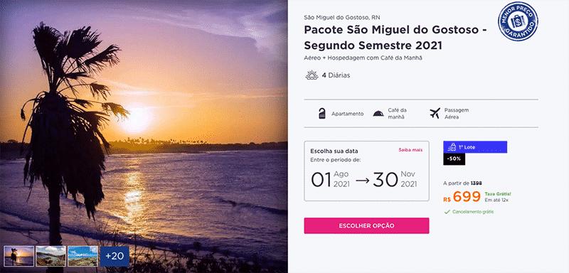 Pacote Hurb para São Miguel do Gostoso por R$ 699