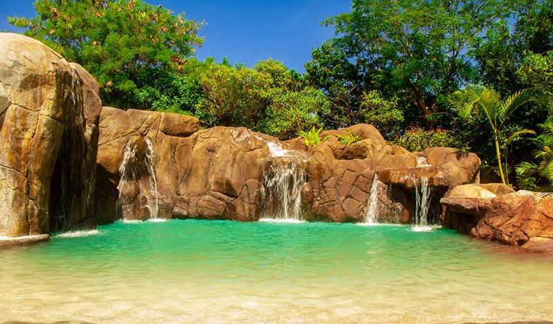Área externa da Pousada Caminho das Cachoeiras na Chapada dos Veadeiros