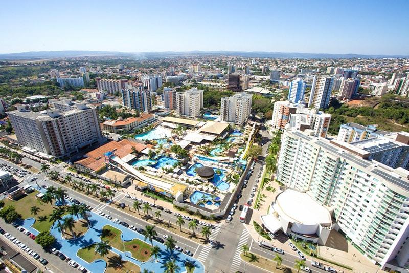 Vista aérea do município de Caldas Novas