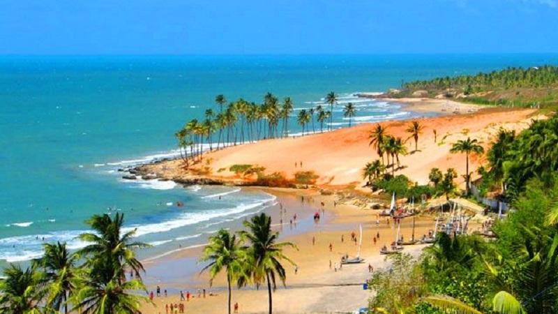 Vista da praia de Fortaleza