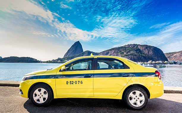 Táxi no Rio de Janeiro
